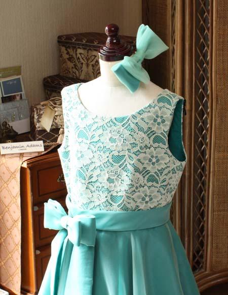 髪飾り リボンのヘッドドレス グリーン リボン