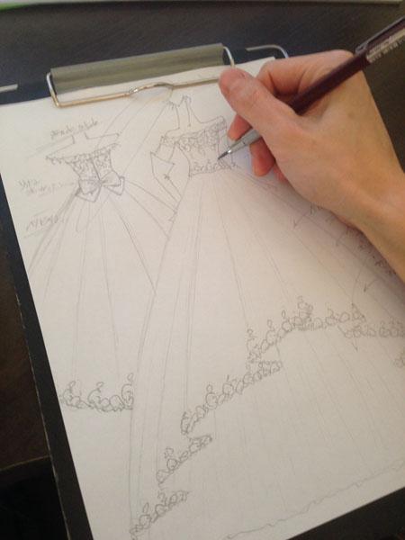 ウェディングドレス デザイン 札幌市の花嫁様ドレス