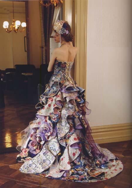 着物ウェディングドレス お色直しカラードレス
