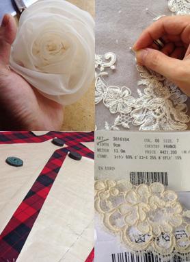 日本で作られるウェディングドレス