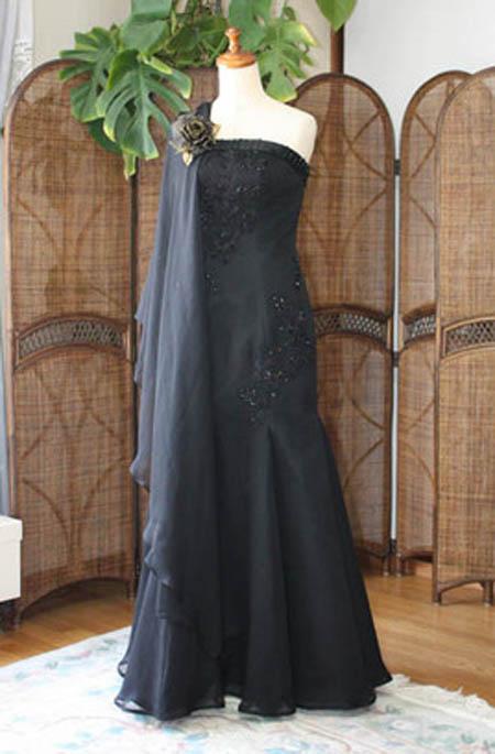 謝恩会ドレスとシフォンのショールで3wayのドレスに