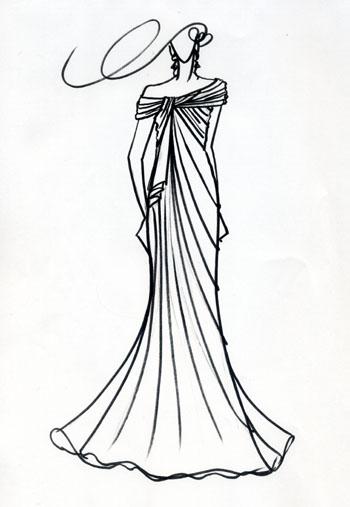 ウェディングドレスのデザイン画 関東の花嫁ドレス