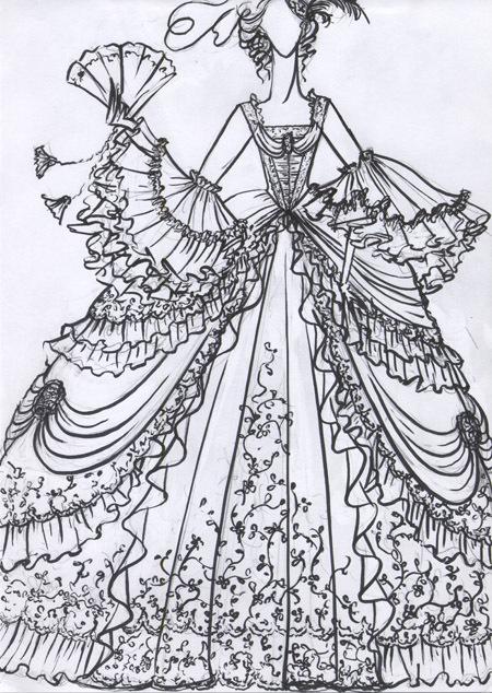 中世ヨーロッパドレス