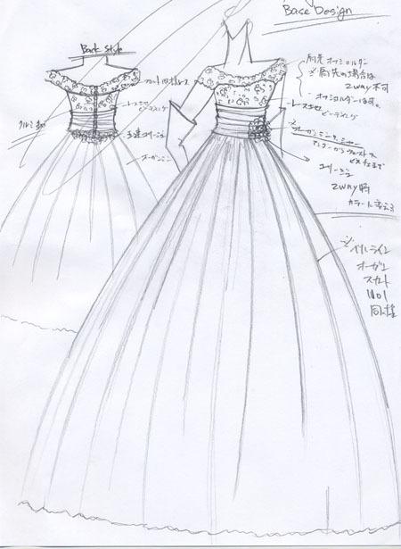 ロココ調 アンティークウェディングドレス