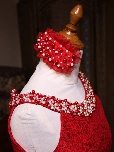 ヘッドドレス ドレスと同じくデザイン