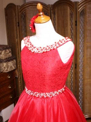 150cmジュニアドレス 胸元デザイン
