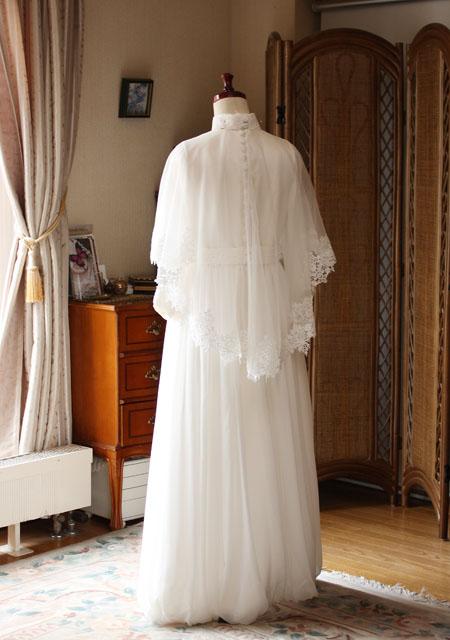 ケープ ウェディングドレス