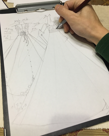 ウェディングドレスのオーダーメイド 札幌の花嫁様ドレス デザイン