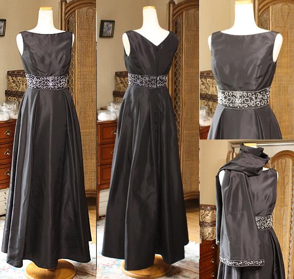 フォーマルドレス お母様ドレス レンタル ブラック