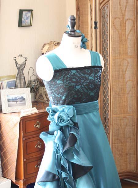 グリーンのリサイタルドレス