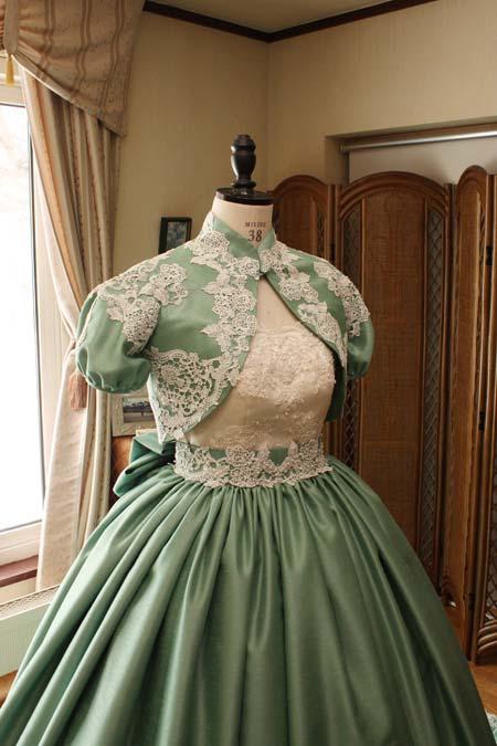 ウェディングドレス お色直し用ボレロ製作