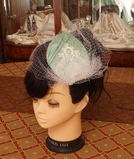 ヘッドドレス ウェディング トーク帽製作