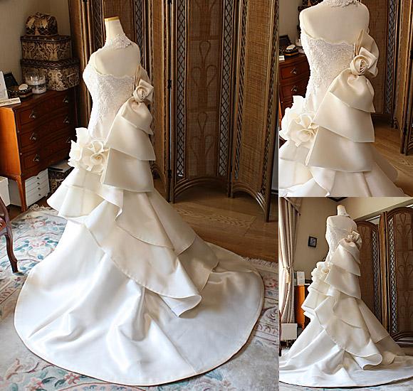 マーメイド ウェディングドレスのシルエット