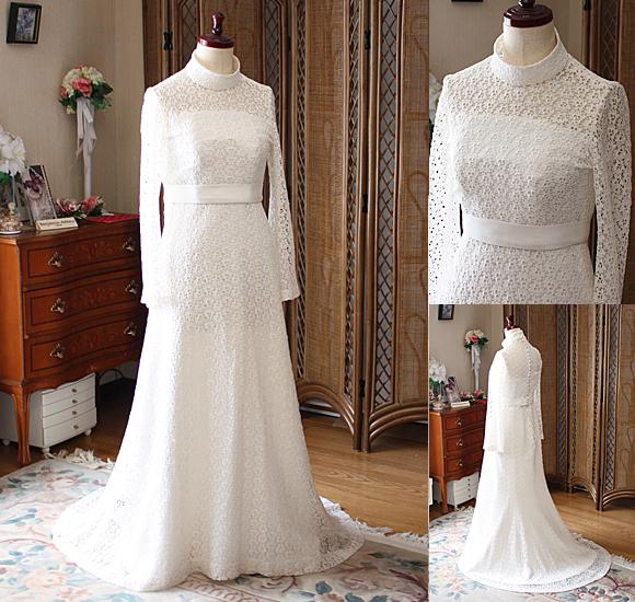 スレンダーライン ウェディングドレス シルエット