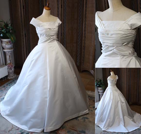ウェディングドレス シルクサテン