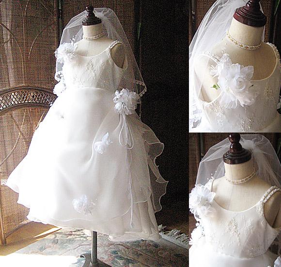 子供用ウェディングドレスの製作
