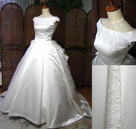 北海道札幌市のお花嫁に制作したウェディングドレス
