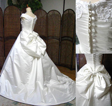 花嫁理想の大きなリボンを施したウェディングドレス