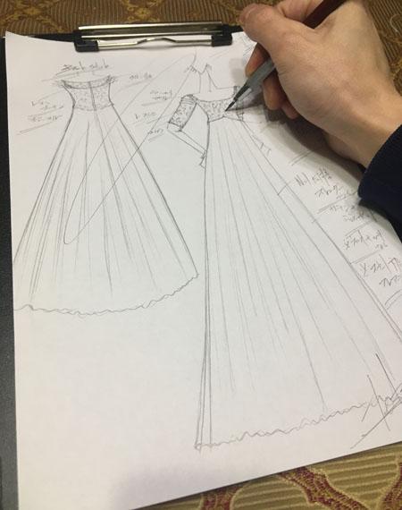 ヴィンテージ ウェディングドレスのデザイン