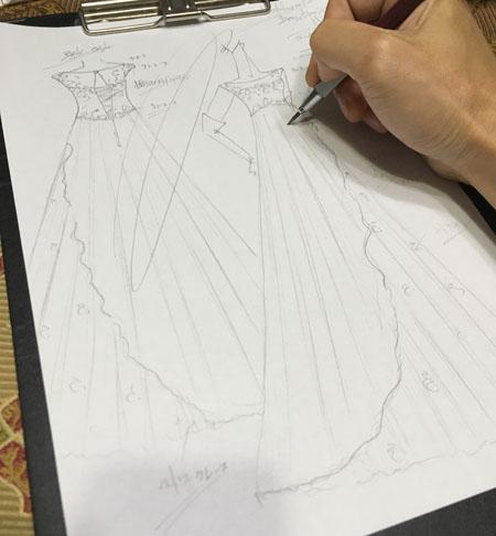 オーダーメイド ウェディングドレスのデザイン