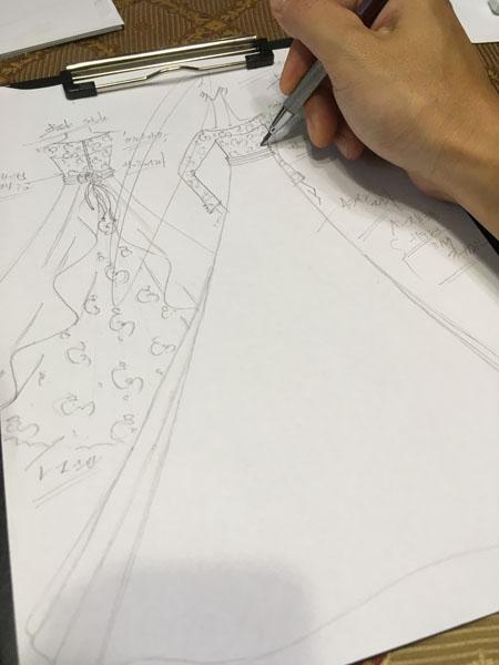 ウェディングドレスのデザイン
