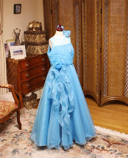ピアノの受賞者コンサートドレス 小学生サイズドレス