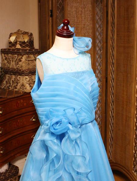 上半身デザイン ロングドレス