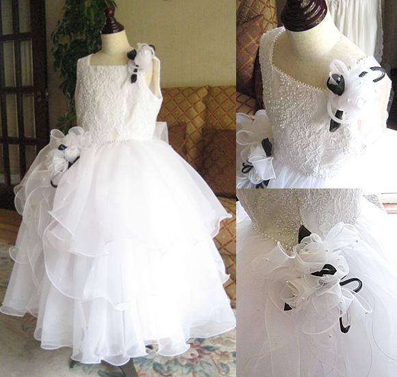 発表会ドレスとコンクールドレス ホワイト&ブラック