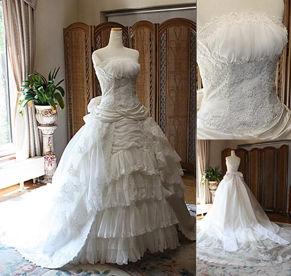ウェディングドレス アンティーク調のデザイン