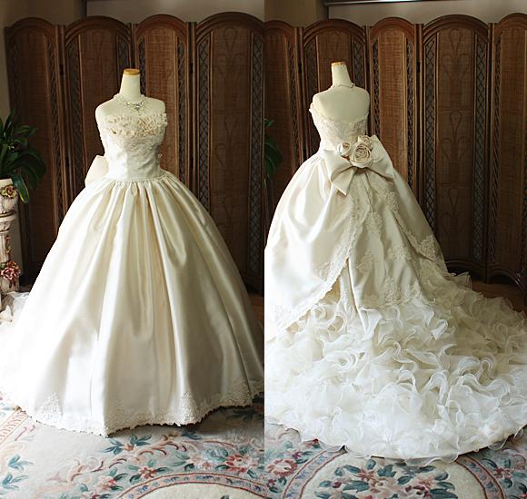 アンティーク調のウェディングドレス
