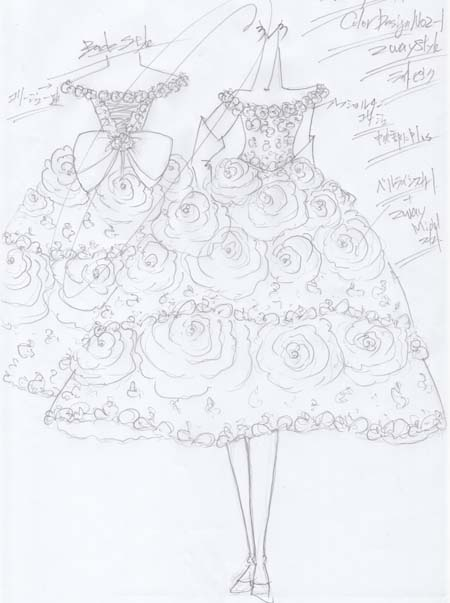 2wayスタイルのお色直しカクテルドレス