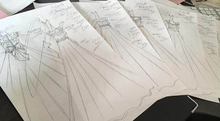 花嫁様の理想を叶えるウェディングドレスショップ デザインのご相談とデザイン画