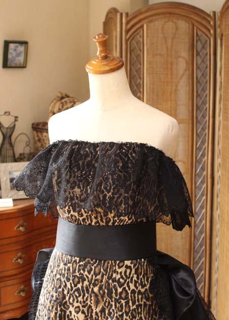 お客様に作り上げたオーダーメイドドレス
