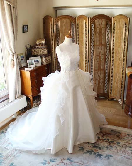 オーダーメイドウェディングドレス プリンセスライン 札幌の花嫁様