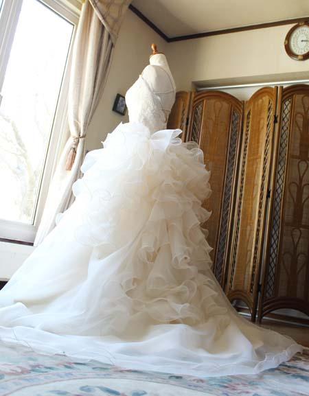 バックスタイルドレス オーダーメイドウェディングドレス