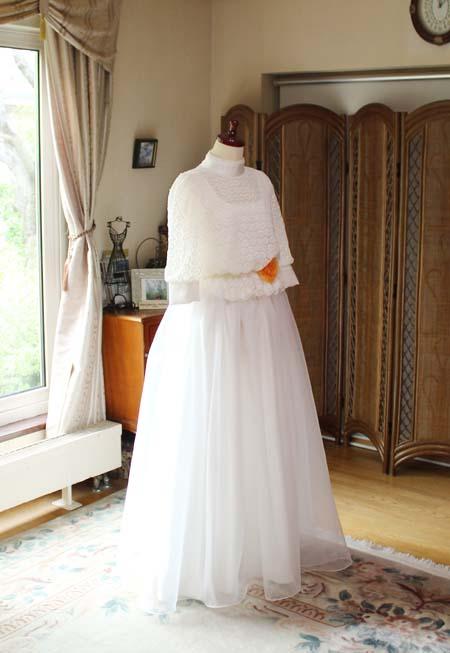 モネ・クロード 日傘の女を基に創り上げたドレス