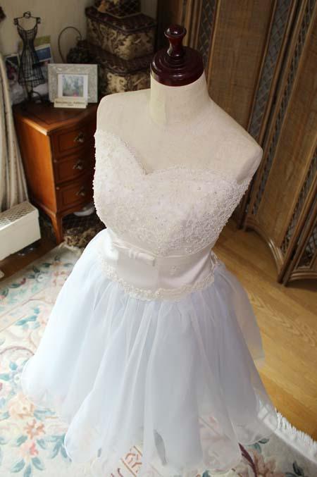 ショート丈の花嫁様ドレス