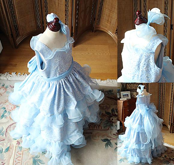 二種類のヘッドドレスとリボンのデザイン