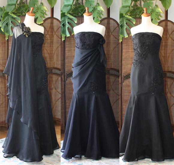 シルク素材のスレンダー マーメイドドレス