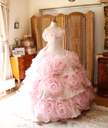 カクテルドレス ピンク