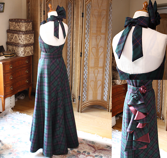 スレンダーなシルエットと美しいオープンスタイイルのバックスタイルドレス