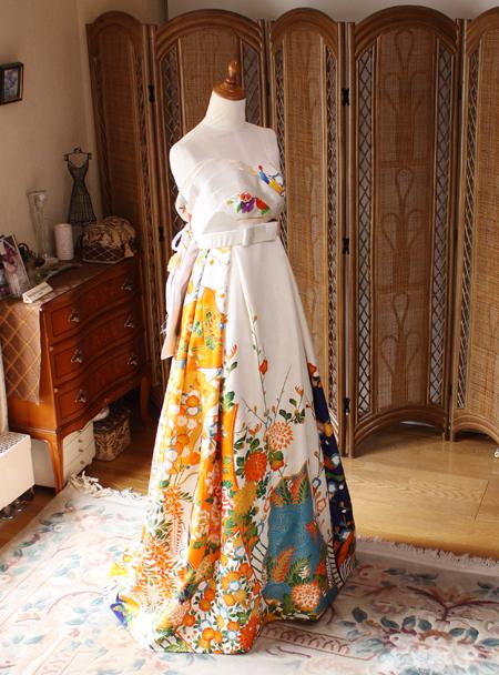着物のウェディングドレス リメイク オーダーメイド 販売
