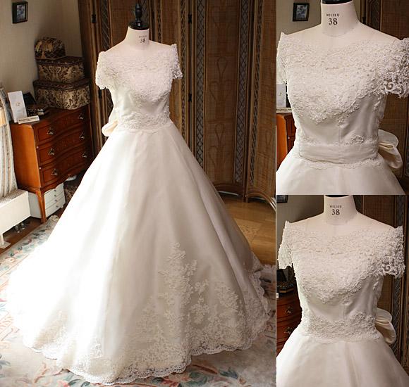 ウェディングドレス シルク素材  Aライン