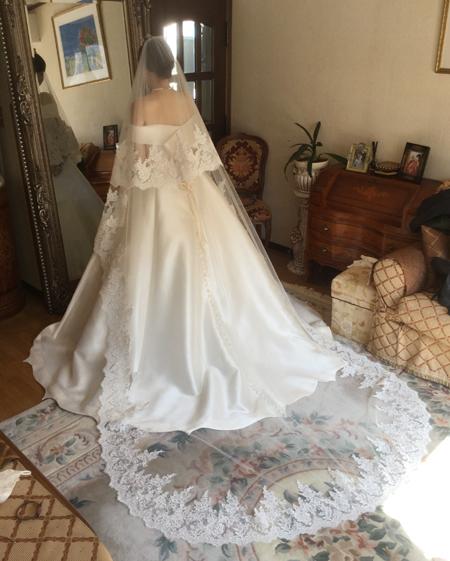 ウェディングドレスの最終フィッティングと小物合わせとコーディネート