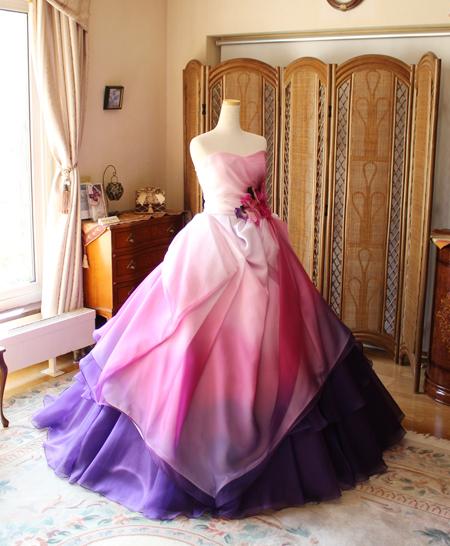 カクテルドレス お色直しドレス チェリーピンク