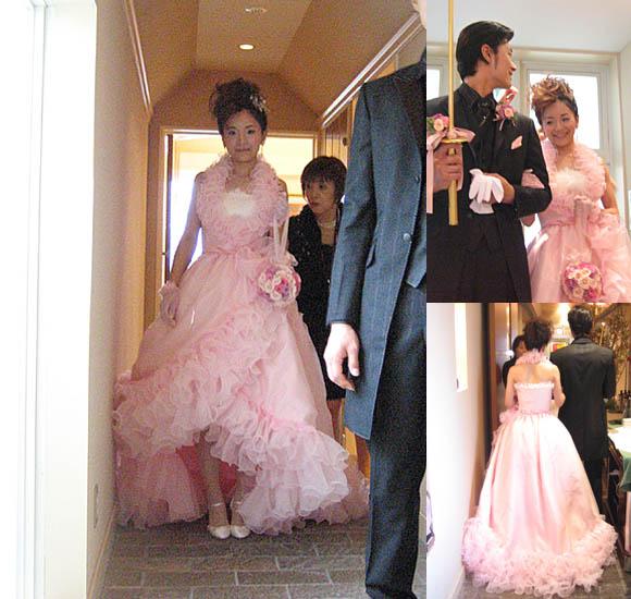 2EAYスタイルウェディングドレスでお色直しカラードレス