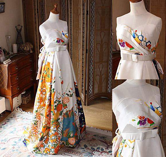 着物のウェディングドレス
