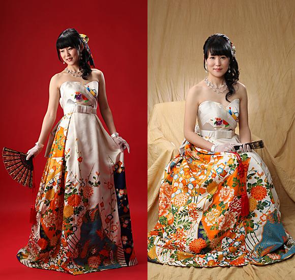 卒業花嫁様の着物ウェディングドレス