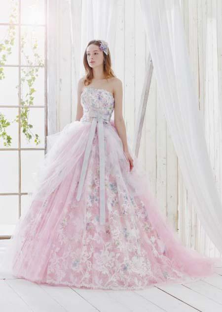 ピンクのカクテルドレス レンタル 札幌店と埼玉店で試着可能