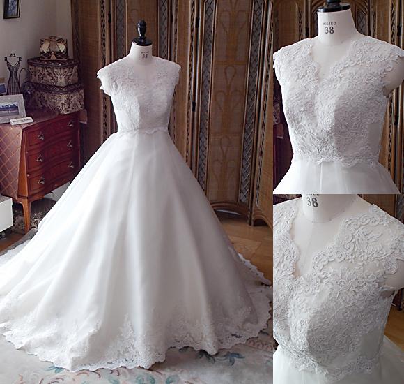 フルオーダーメイドのウェディングドレス